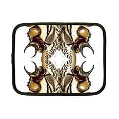 Butterfly Art Ivory&brown Netbook Sleeve (Small)