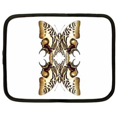 Butterfly Art Ivory&brown Netbook Sleeve (XXL)