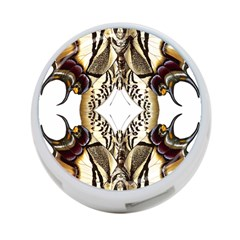 Butterfly Art Ivory&brown 4-Port USB Hub (Two Sides)