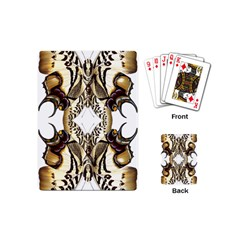 Butterfly Art Ivory&brown Playing Cards (Mini)