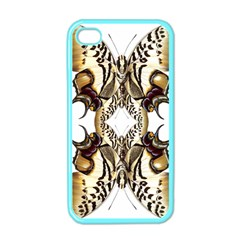 Butterfly Art Ivory&brown Apple iPhone 4 Case (Color)