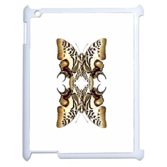 Butterfly Art Ivory&brown Apple Ipad 2 Case (white)