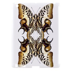 Butterfly Art Ivory&brown Apple iPad 3/4 Hardshell Case (Compatible with Smart Cover)