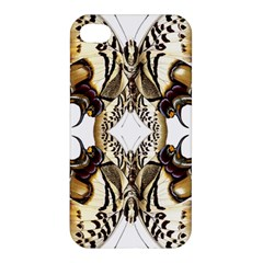 Butterfly Art Ivory&brown Apple Iphone 4/4s Premium Hardshell Case