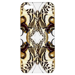 Butterfly Art Ivory&brown Apple Iphone 5 Hardshell Case