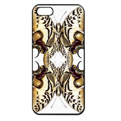 Butterfly Art Ivory&brown Apple iPhone 5 Seamless Case (Black)