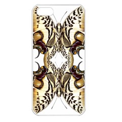 Butterfly Art Ivory&brown Apple Iphone 5 Seamless Case (white)