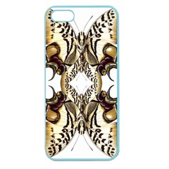 Butterfly Art Ivory&brown Apple Seamless iPhone 5 Case (Color)