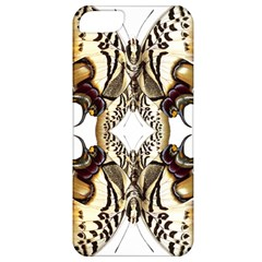 Butterfly Art Ivory&brown Apple Iphone 5 Classic Hardshell Case