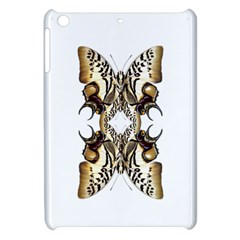 Butterfly Art Ivory&brown Apple iPad Mini Hardshell Case