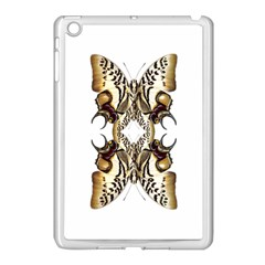 Butterfly Art Ivory&brown Apple iPad Mini Case (White)