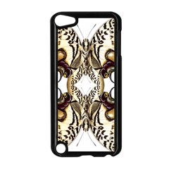 Butterfly Art Ivory&brown Apple iPod Touch 5 Case (Black)