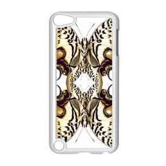 Butterfly Art Ivory&brown Apple iPod Touch 5 Case (White)