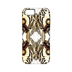 Butterfly Art Ivory&brown Apple iPhone 5 Classic Hardshell Case (PC+Silicone)