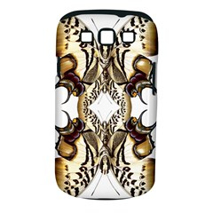 Butterfly Art Ivory&brown Samsung Galaxy S III Classic Hardshell Case (PC+Silicone)