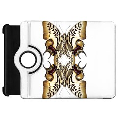 Butterfly Art Ivory&brown Kindle Fire Hd 7  (1st Gen) Flip 360 Case