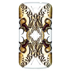 Butterfly Art Ivory&brown Samsung Galaxy S3 S III Classic Hardshell Back Case