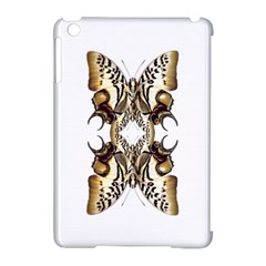Butterfly Art Ivory&brown Apple iPad Mini Hardshell Case (Compatible with Smart Cover)