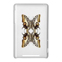 Butterfly Art Ivory&brown Google Nexus 7 (2012) Hardshell Case