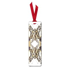 Butterfly Art Ivory&brown Small Bookmark