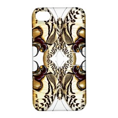 Butterfly Art Ivory&brown Apple iPhone 4/4S Hardshell Case with Stand