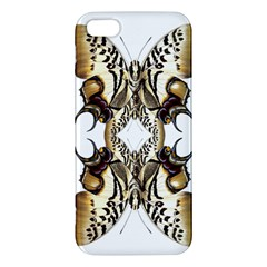 Butterfly Art Ivory&brown iPhone 5 Premium Hardshell Case