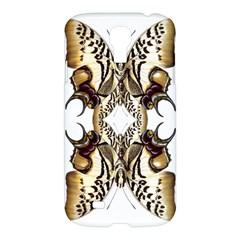 Butterfly Art Ivory&brown Samsung Galaxy S4 I9500/I9505 Hardshell Case