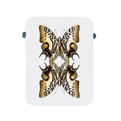 Butterfly Art Ivory&brown Apple iPad Protective Sleeve