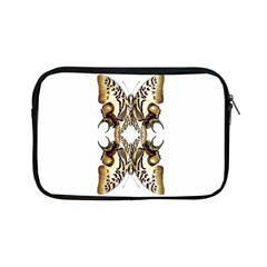 Butterfly Art Ivory&brown Apple iPad Mini Zippered Sleeve