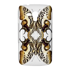 Butterfly Art Ivory&brown Samsung Galaxy Duos I8262 Hardshell Case