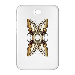 Butterfly Art Ivory&brown Samsung Galaxy Note 8.0 N5100 Hardshell Case