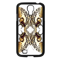 Butterfly Art Ivory&brown Samsung Galaxy S4 I9500/ I9505 Case (black)