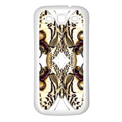 Butterfly Art Ivory&brown Samsung Galaxy S3 Back Case (White)