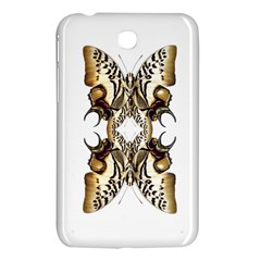Butterfly Art Ivory&brown Samsung Galaxy Tab 3 (7 ) P3200 Hardshell Case