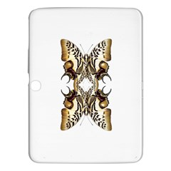 Butterfly Art Ivory&brown Samsung Galaxy Tab 3 (10.1 ) P5200 Hardshell Case