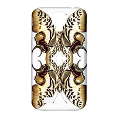 Butterfly Art Ivory&brown Samsung Galaxy S4 Classic Hardshell Case (PC+Silicone)