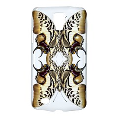 Butterfly Art Ivory&brown Samsung Galaxy S4 Active (I9295) Hardshell Case