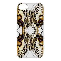 Butterfly Art Ivory&brown Apple Iphone 5s Hardshell Case