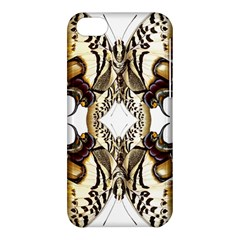 Butterfly Art Ivory&brown Apple iPhone 5C Hardshell Case