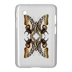 Butterfly Art Ivory&brown Samsung Galaxy Tab 2 (7 ) P3100 Hardshell Case