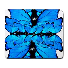 Butterfly Art Blue&cyan Large Mouse Pad (Rectangle)
