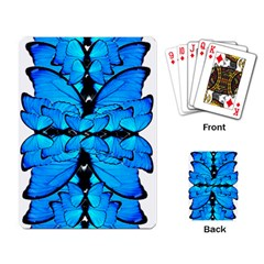 Butterfly Art Blue&cyan Playing Cards Single Design
