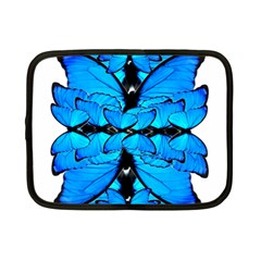Butterfly Art Blue&cyan Netbook Sleeve (Small)