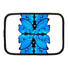 Butterfly Art Blue&cyan Netbook Sleeve (medium)