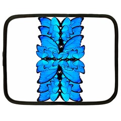 Butterfly Art Blue&cyan Netbook Sleeve (Large)
