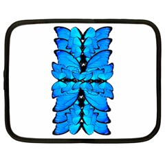 Butterfly Art Blue&cyan Netbook Sleeve (XL)
