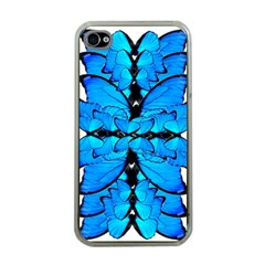 Butterfly Art Blue&cyan Apple Iphone 4 Case (clear)