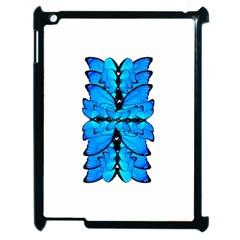 Butterfly Art Blue&cyan Apple iPad 2 Case (Black)