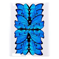 Butterfly Art Blue&cyan Apple iPad 3/4 Hardshell Case