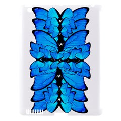 Butterfly Art Blue&cyan Apple iPad 3/4 Hardshell Case (Compatible with Smart Cover)